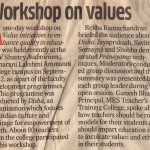 Workshop on values