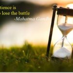 Patience – the key to success
